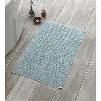 Berrnour Home Solomon Luxury Bath Mat Color Mint Luxury Towels