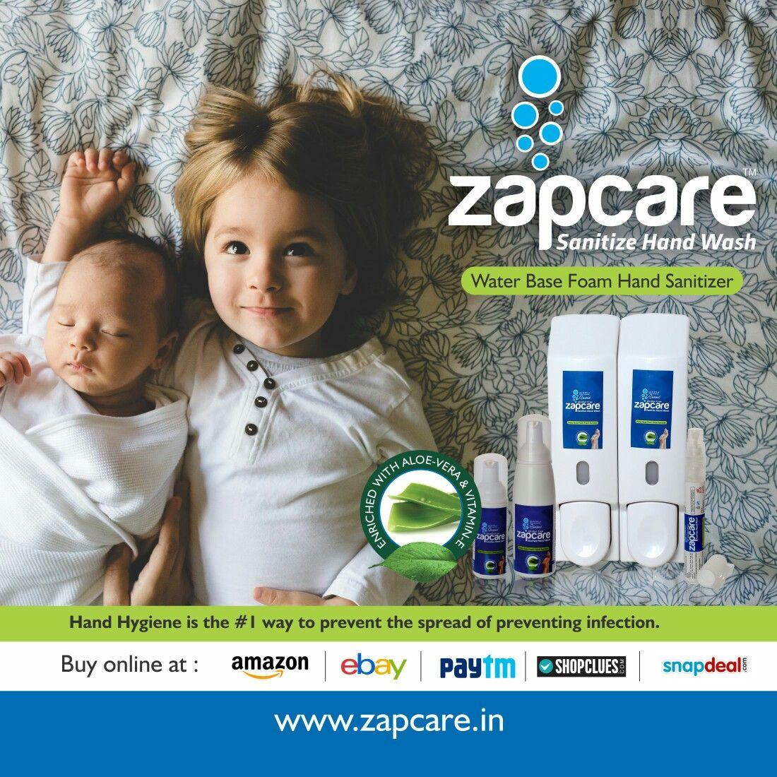 Alcohol Free Hand Sanitizer Zapcare Www Zapcare In Hand Hygiene