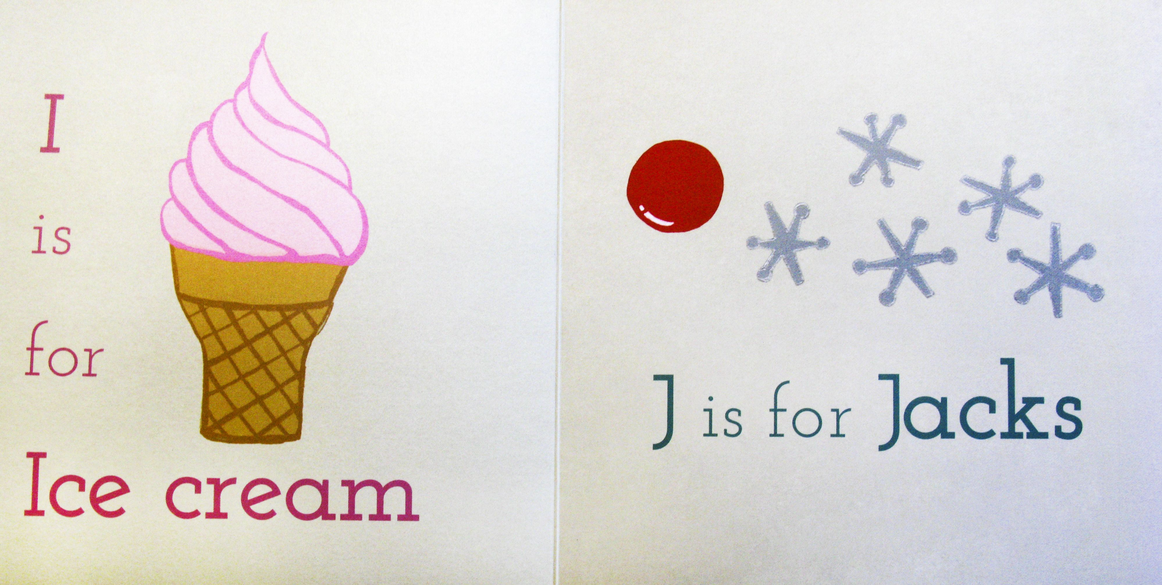 I is for Ice Cream, J is for Jacks! #alphabet #powkidsbooks