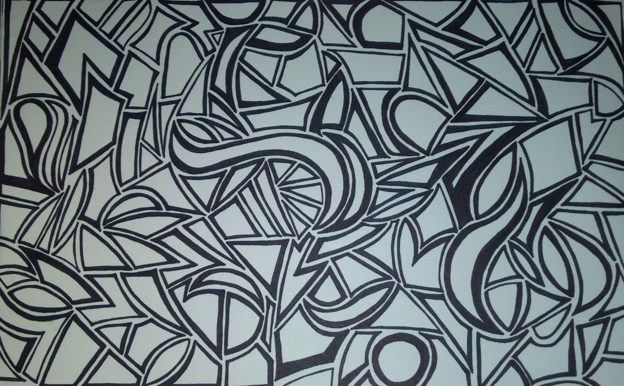 done with sharpie markers - coloring page - SF | My marker ...