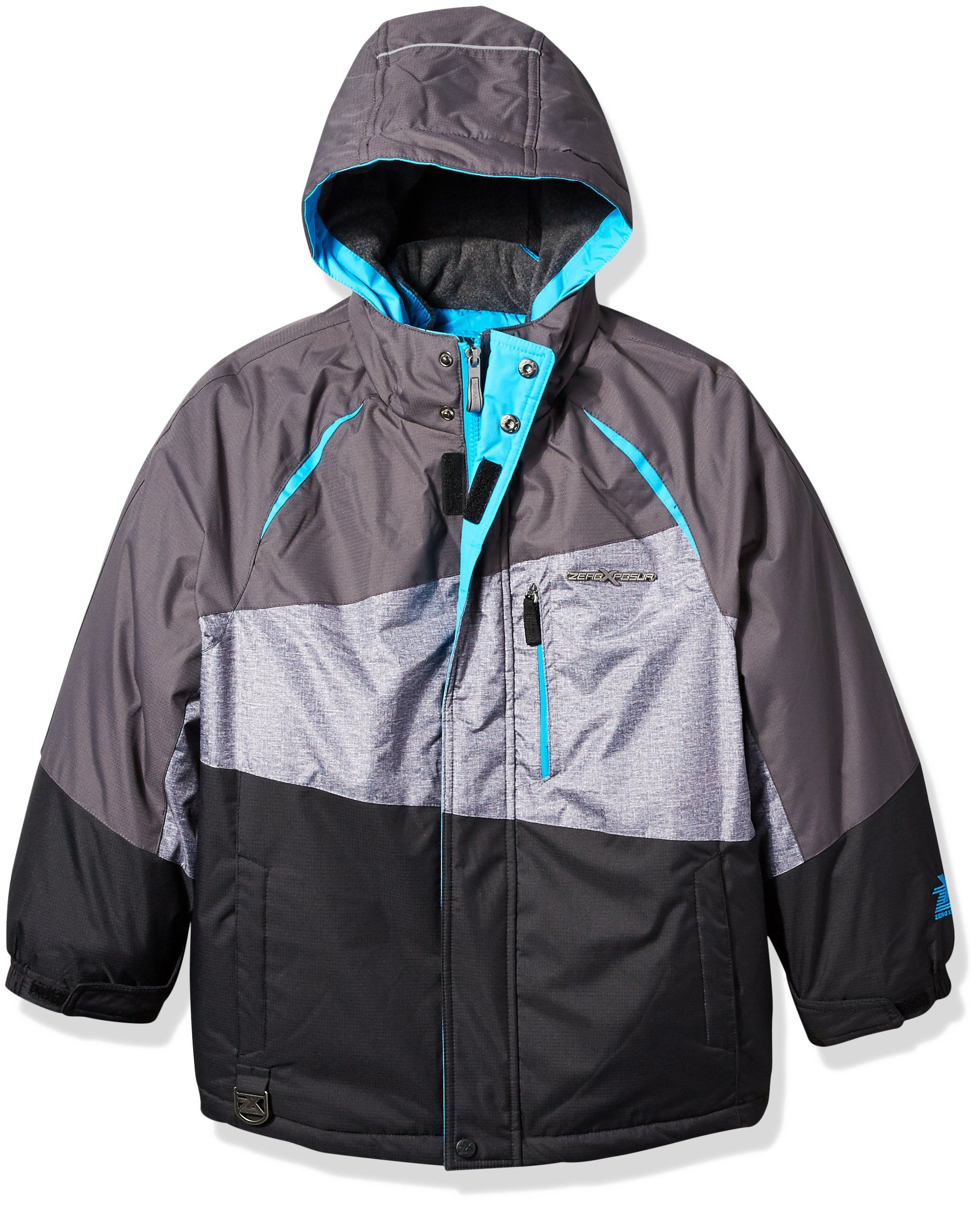 Zeroxposur Big Boys Iceberg 3 In 1 Systems Jacket Black Turquoise M 10 12 Fully Insulated For Warmth The Durable Construction Jackets Athletic Jacket Boys [ 2447 x 1989 Pixel ]