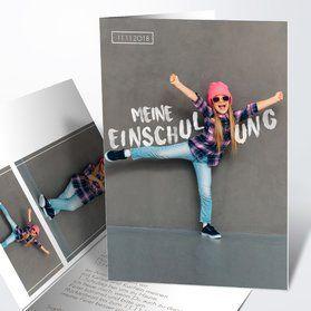 Einladungskarten zur Einschulung online gestalten und drucken – Kindergeburtstag ideen – Schuleingang Emily