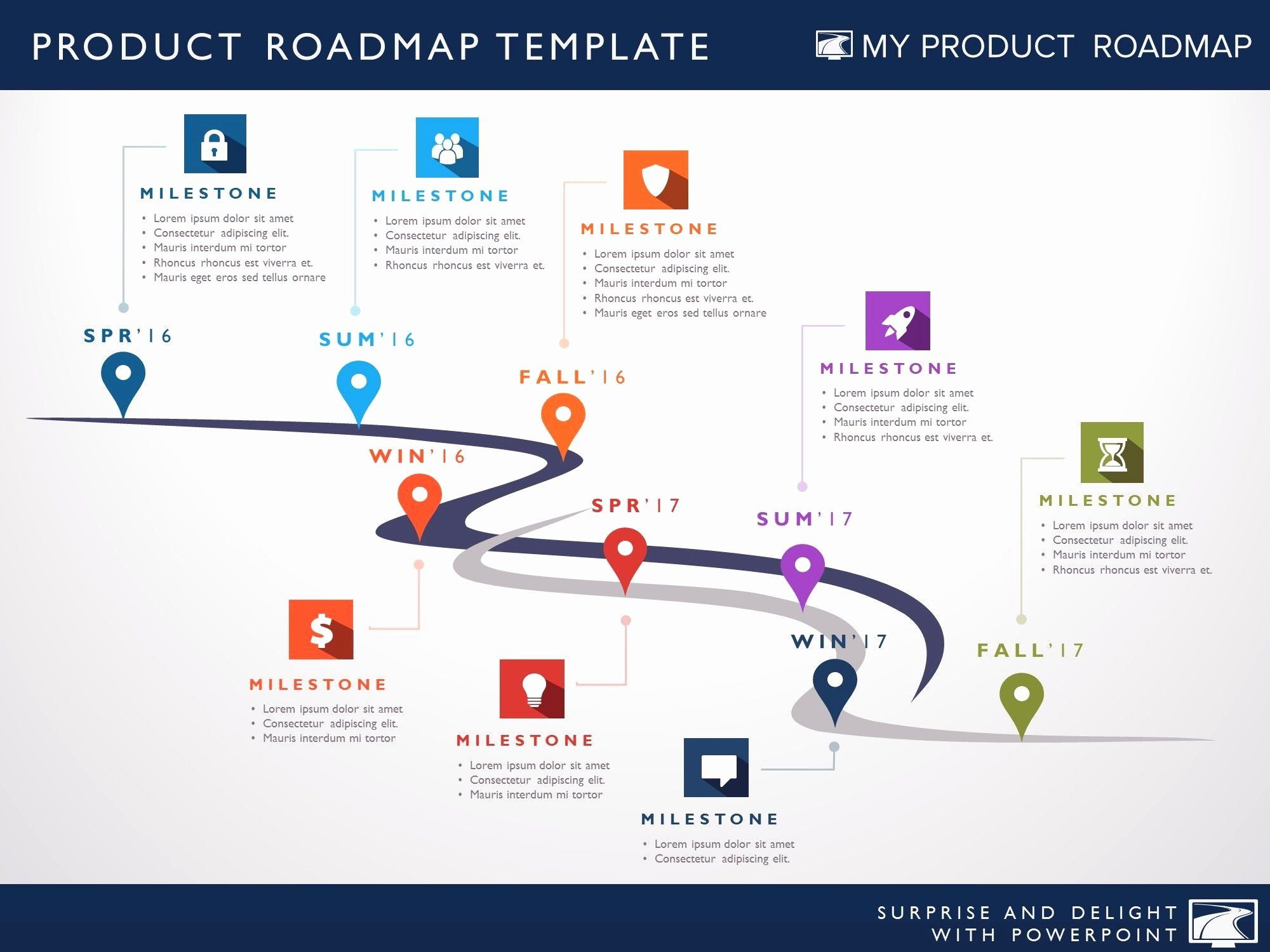 Powerpoint Roadmap Template Free Download Unique Product