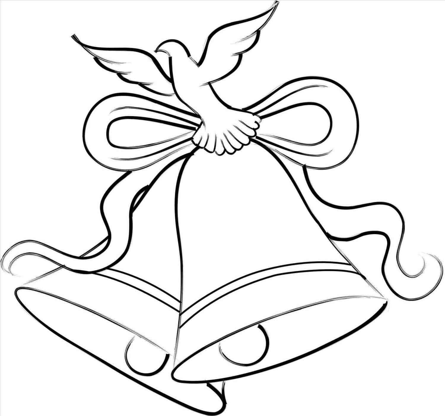 Christmas Bells Drawing In Color