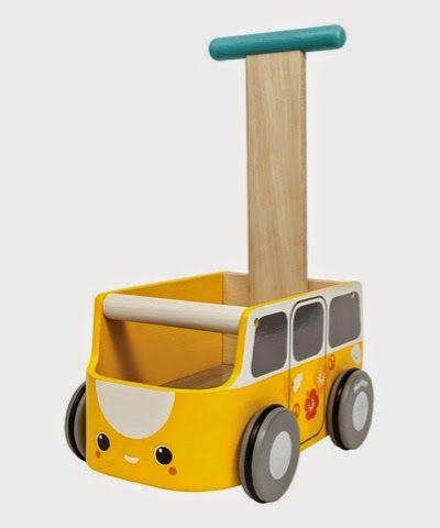 yellow wooden push along campervan camper van baby walker by plan toys campervan camper van. Black Bedroom Furniture Sets. Home Design Ideas
