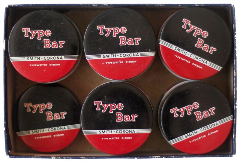 Typewriter ribbon tins