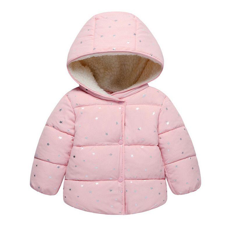2b17a116e Infants Baby Girl Hooded Printed Princess Jacket Coat