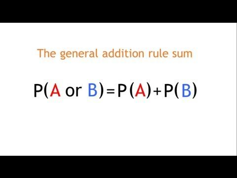 The General Addition Rule Probability The Virtual School Statistics Math Study Tips College Teacher Life