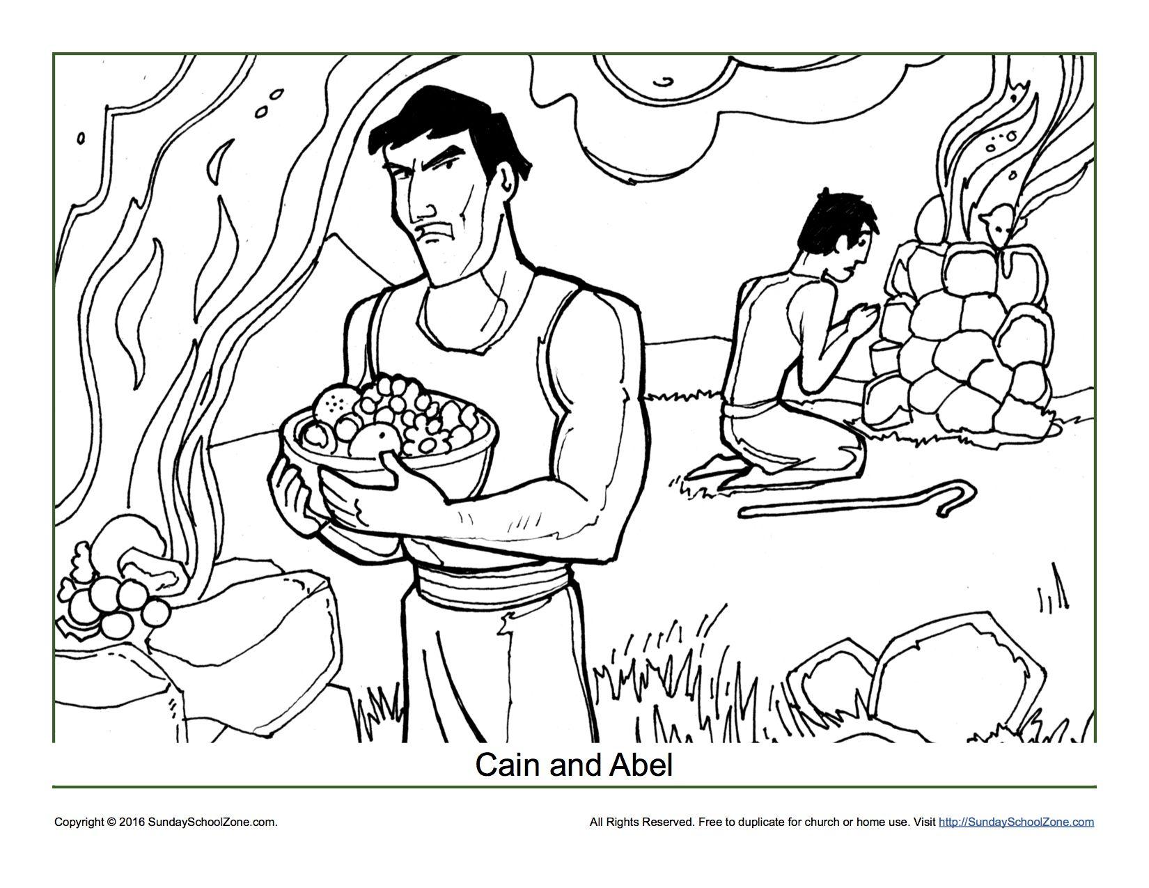 Cain and Abel Coloring Page | Preescolar, Mitología y Escuela