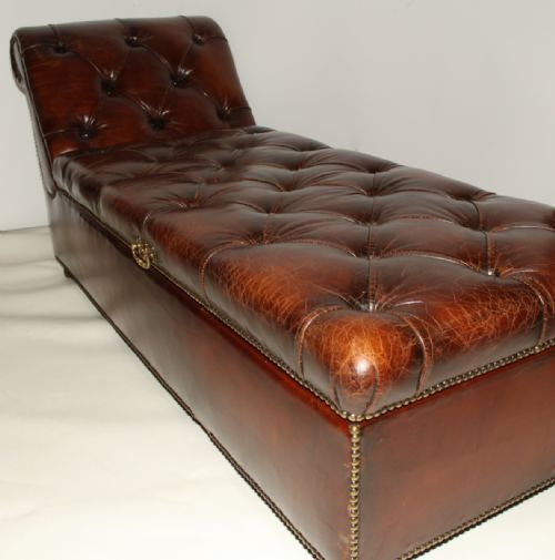 Brilliant Victorian Leather Day Bed Ottoman Couch Lifts Up For Andrewgaddart Wooden Chair Designs For Living Room Andrewgaddartcom