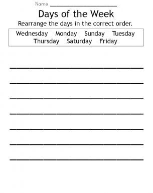 Days of the Week Worksheet | Lessons for Kids | Pinterest | The o ...
