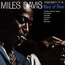 Kind of Blue.  Is this the greatest jazz album ever? Miles Davis, John Coltrane, Cannonball Adderley, Paul Chambers, Jimmy Cobb, Bill Evans/Wynton Kelly.  A softening of style for Davis and and a breakout album for Evans. 4X platinum.