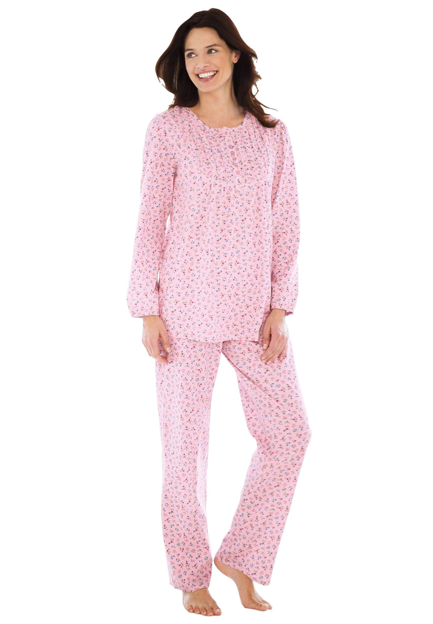 Cotton Knit Ruffled Pajamas By Only Necessities From Woman Within Plus Size Pajamas Plus Size Intimates Pajama Set Women