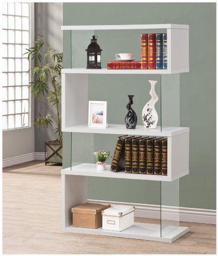 Coaster Bookshelf, White Coaster Home Furnishings   wwwamazon