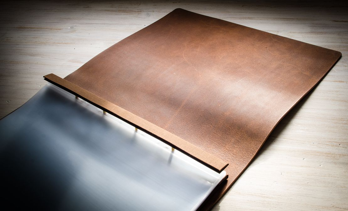Inside Cover Of An Hu0026Co Leather Presentation Print Portfolio. Each Portfolio  Is Individually Handmade.  Leather Resume Portfolio
