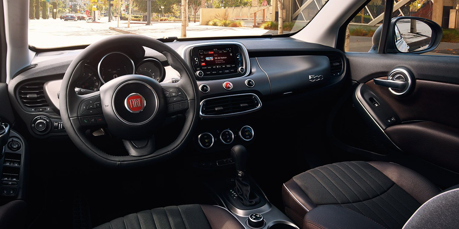 The All New 2016 Fiat 500x Lounge Interior Features A High Tech