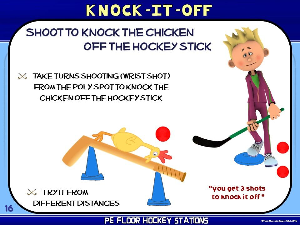 Pe Floor Hockey Stations 20 Quot Stick To It Quot Zones Hockey
