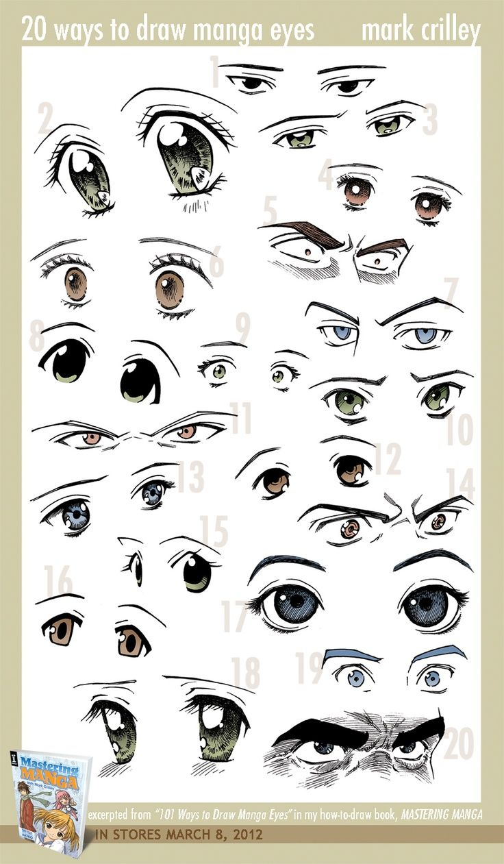 20 ways to draw anime eyes from mark crilley