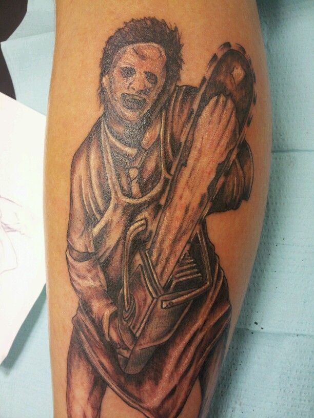 Leatherface tattoo texas chainsaw massacre tattoos by for Stomach tattoo pain level