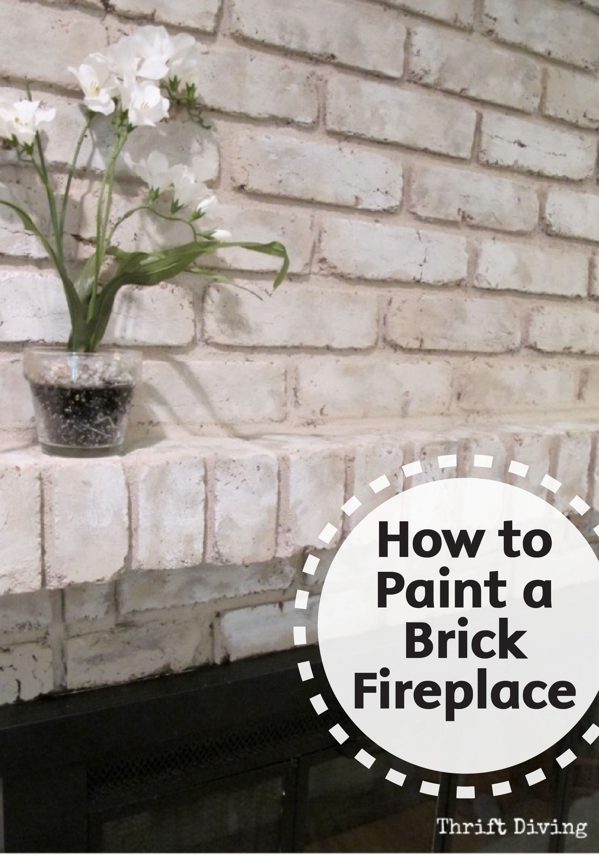 Easily refinish your old brick fireplace and give it a - How to make a brick fireplace look modern ...