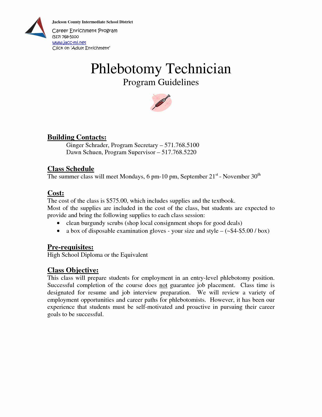 25 entry level phlebotomist resume in 2020 job resume
