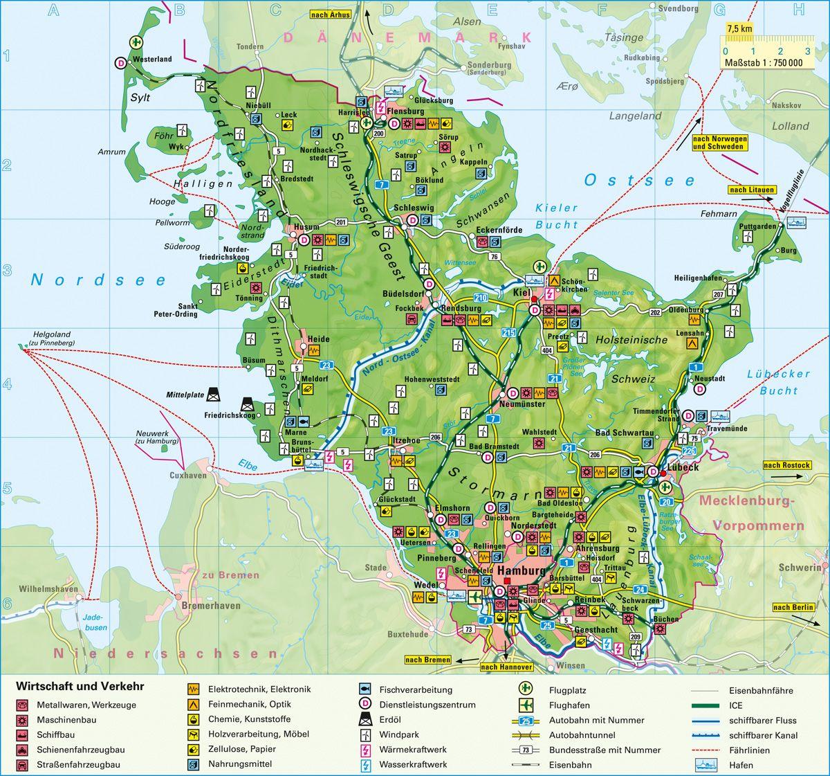 Schleswig Holstein Karte Holstein Karte Schleswig Schleswig Karten Schleswig Holstein