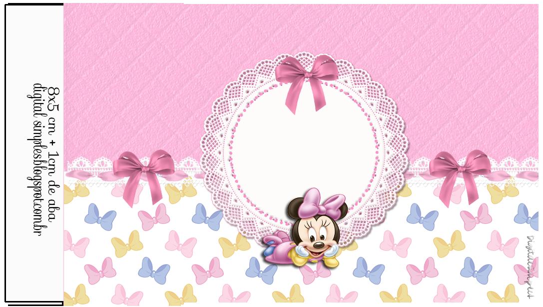 Kit De Personalizados Minnie Mouse Baby Para Imprimir Tubete
