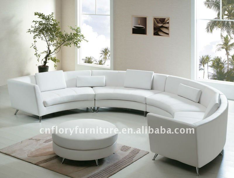 Sora Redondo   Round Sofa Round Couch, Curved Sectional, White Sectional  Sofa, Leather