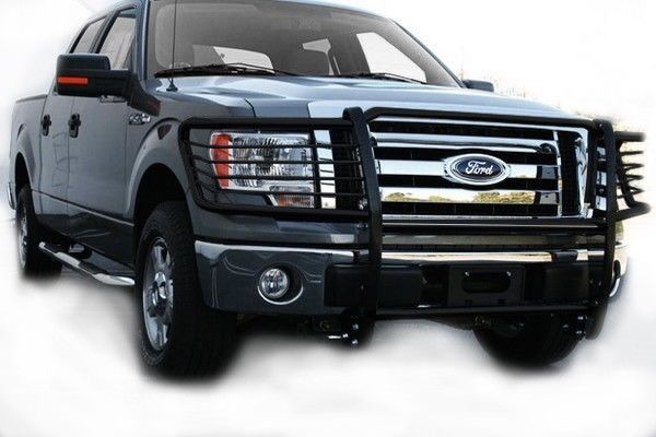 2009 2014 Ford F150 Black Front Grille Guard Brush Push Bar Ford