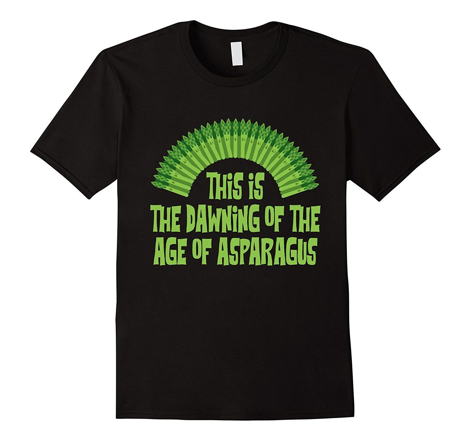 The Age Of Asparagus T-Shirt. Funny Vegan Humor Music