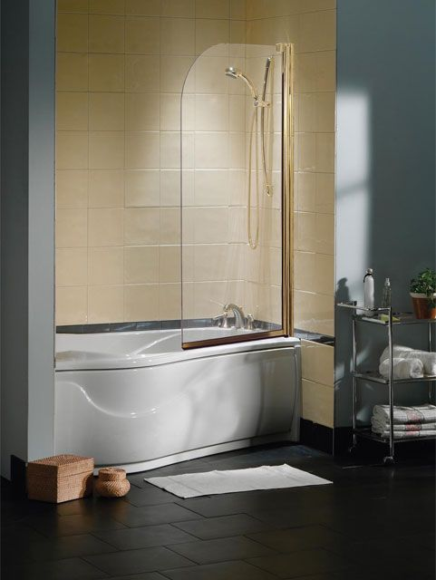 maax collection tub shield 1 panel trackless tub shower door - Bathtub Shower Doors