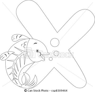 Vector Coloring Page X Ray Fish Stock Illustration Royalty Free Illustrations Stock Clip Art Icon Stock Cl Coloring Books Coloring Pages Animal Alphabet