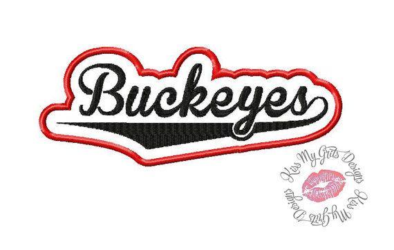 Buckeyes Machine Embroidery Applique Design