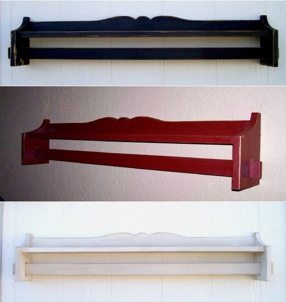 Quilt Rack Distressed Shabby Chic Shelf By
