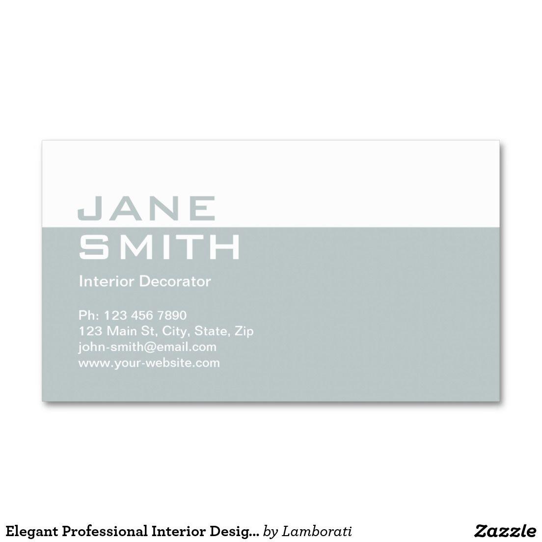 Elegant Professional Interior Design Decorator | Business Cards ...