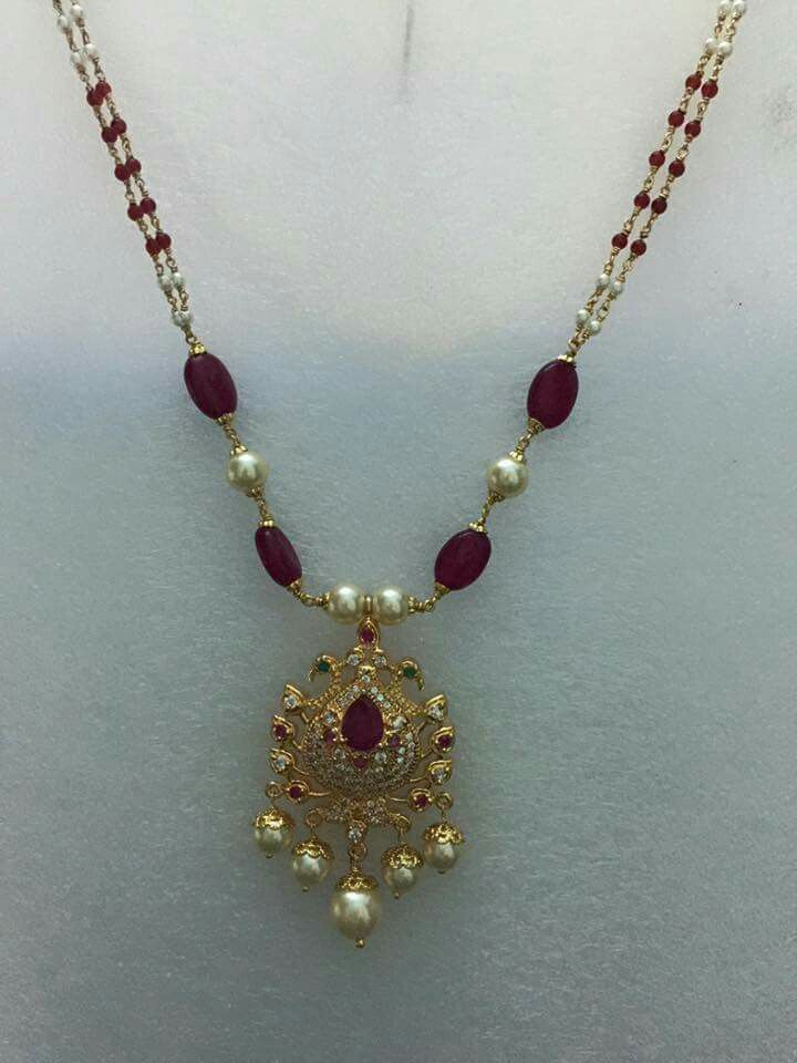 Simple beads necklace ornaments pinterest bead for Simple gold ornaments