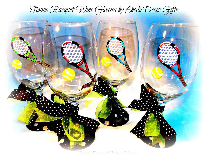 Tennis Wine Glass Tennis Gifts Tennis Team Gift Team Captain Gift Tennis Player Gifts Tennis Ball Tennis Gifts Wholesale Captain Gifts Tennis Players Gifts