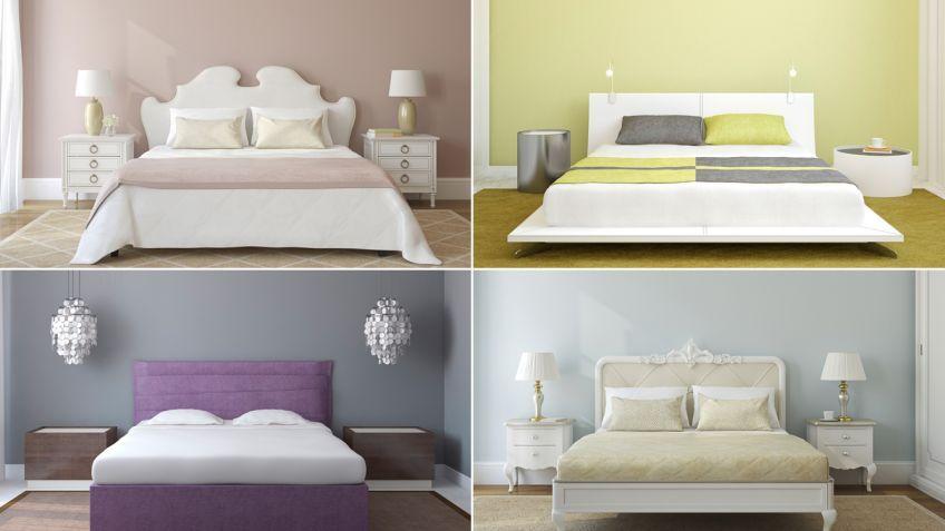 Combinación de colores para el dormitorio El dormitorio