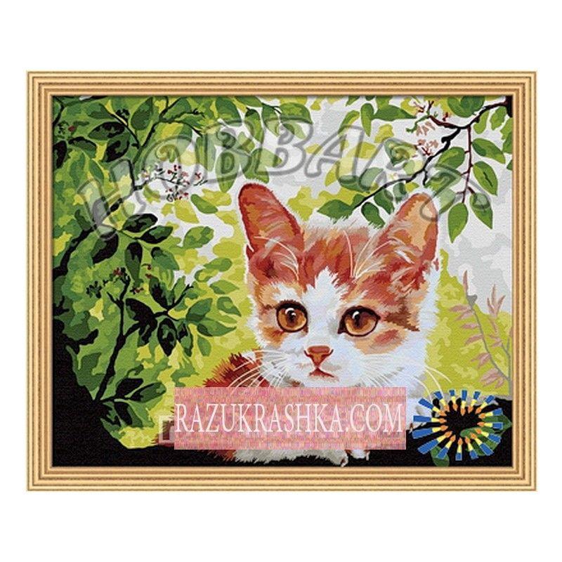 Купить Раскраска по номерам Hobbart «По деревьям ...