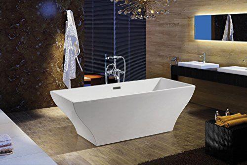 Akdy F296a 8713 Bathroom Combo White Color Acrylic Freestanding Bathtub Az F296a With Tub Filler Soaking Bathtubs Modern Bathtub Bathtub