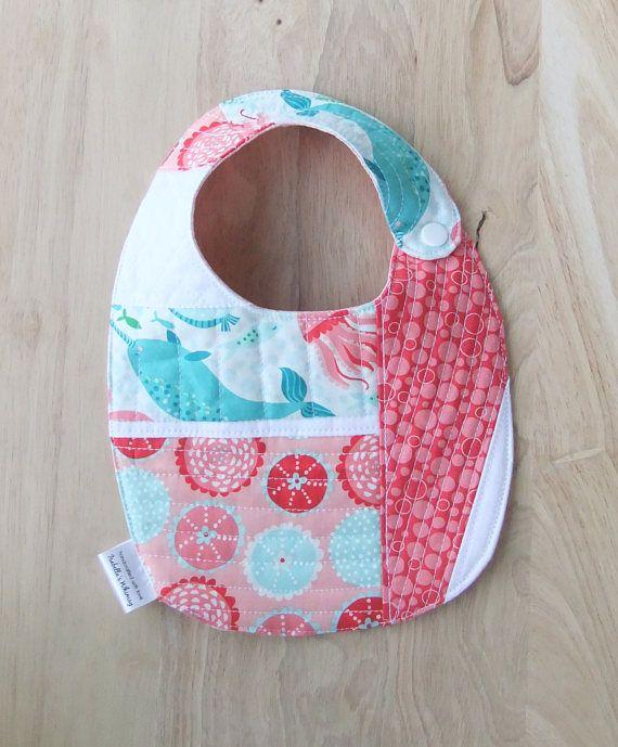 Baby bibs Handmade, Baby Girl Bib, Quilted Patchwork Bib, Drool ... : quilted bibs - Adamdwight.com