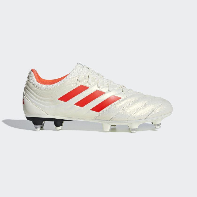 Bota de fútbol Copa 19.3 césped natural húmedo Off White   Solar Red   Core  Black a9055159a4e8f