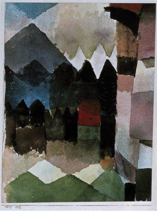 Paul Klee Fohn Im Marc Schen Garten 1915 Staedtische Galerie Im Lenbachhaus Munich Paul Klee Pinterest Arte Acuarela And Pintor
