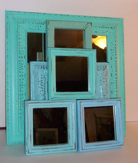 6 Distressed Shades Of The Beach Wall Mirrors Robins Egg