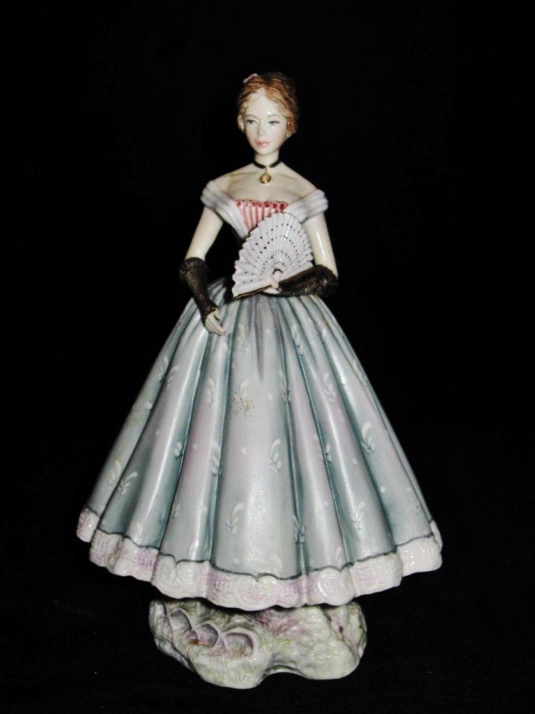 Royal Worcester CAROLINE 3682 Figurine, Victorian Series by Ruth VanRuyckevelt.