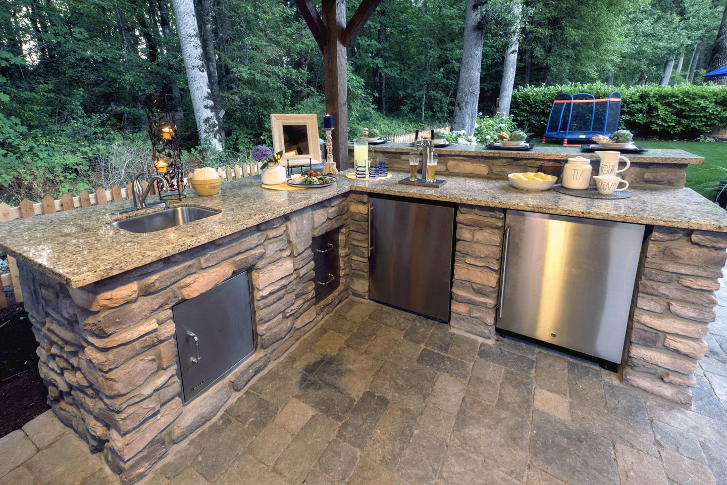 patio ideas paradise restored landscaping outdoor kitchen best countertops outdoor kitchen on outdoor kitchen gazebo ideas id=73537