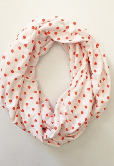 Coral Dot Scarf. Could it be the delightful prints or the fantastic price that keep these Candy Scarves perpetually flying off the Buttercream shelves? Stave off the winter blues with these spring scarves – you won't even feel bad about buying two! They make fabulous accessories and great gifts for friends. $22. Ships in 1 to 2 weeks - Buttercream Clothing