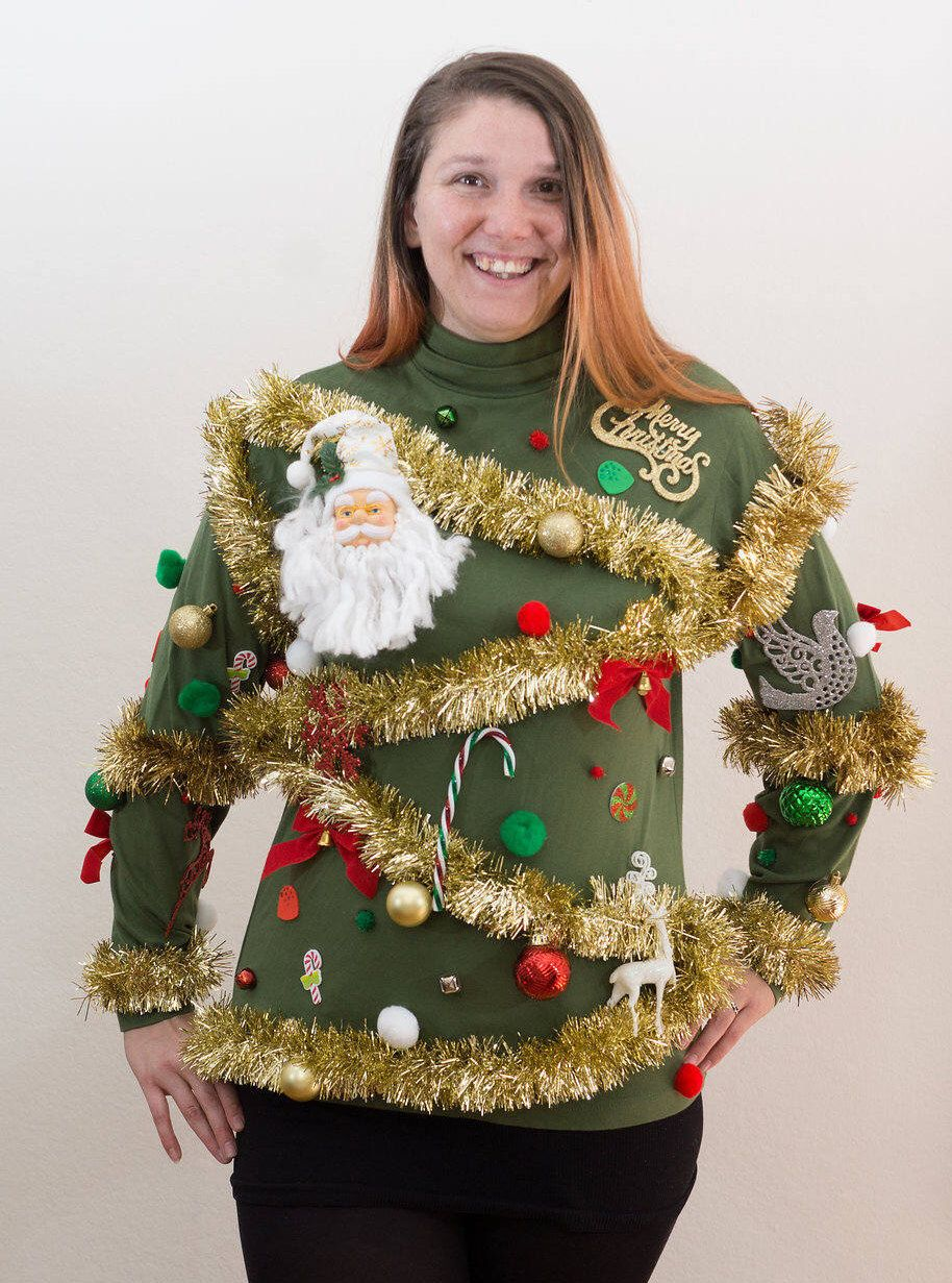 Awesome Gaudy Ugly Christmas Tree Sweater
