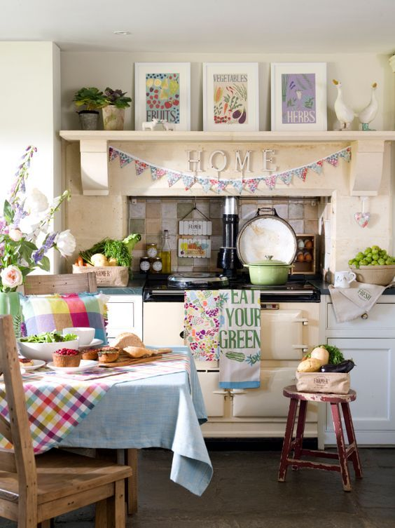 lovely colourful kitchen home decoration in 2019 cocinas rh pinterest es