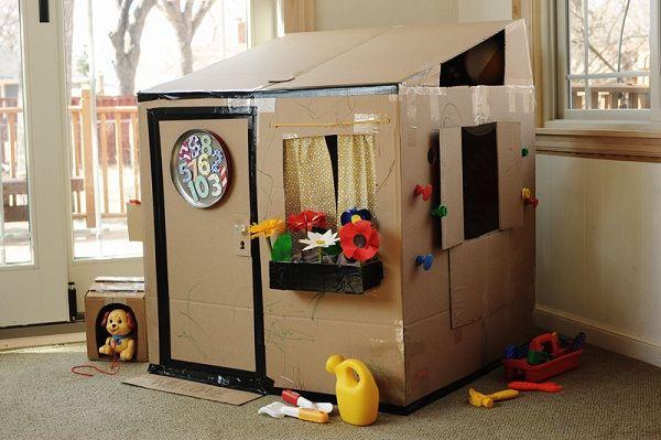 carton house diy | Una de habitaciones infantiles : este cuarto de niña en tonos grises ...